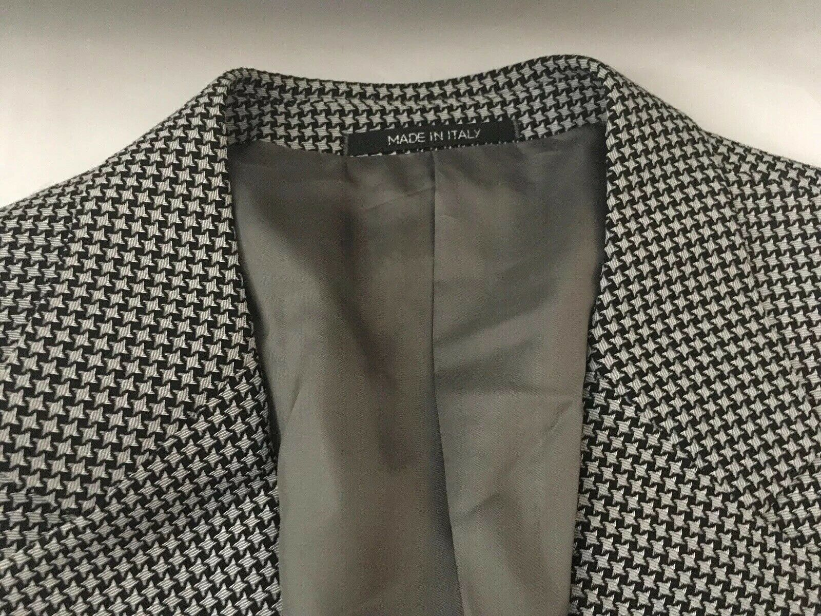 Mens Armani Collection Wool Blend Sport Coat Blazer Size 44L, Made In Italy