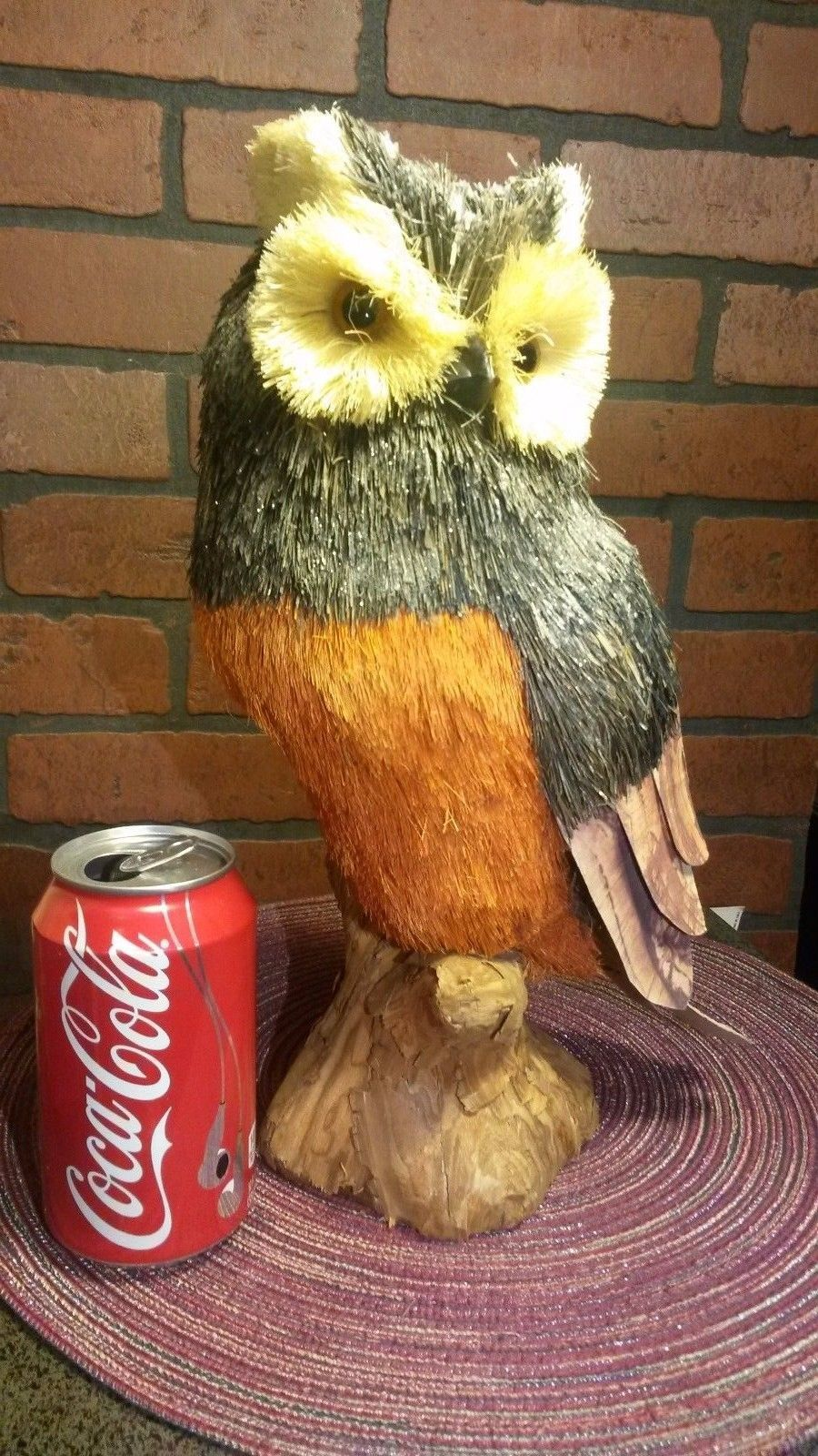 "Husk/Straw Owl - 13"" Tall - Perfect for Fall NWT The Bloom Room - Tall"