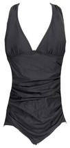 J Crew Ruched Femme One Piece Swimsuit Bathing Suit Swim 12 B6819 Black - $36.79