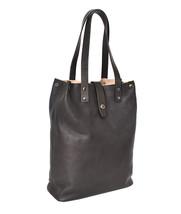 Women's Leather Boho Chic Purse Studded Expandable Lined Transport Tote Handbag image 2