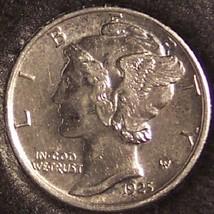 1925 Mercury Head Dime BU FSB #1094 - $29.99