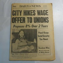 Daily News May 18 1978 City Hikes Wage Only White in Queens School M8 - $39.99