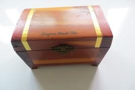 old Daytona Beach Florida cedar wooden trinket souvenir hinged storage c... - $23.75