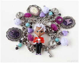 Revolutionary Girl Utena Akio Charm Bracelet, Stainless Steel, Anime Jew... - $42.00