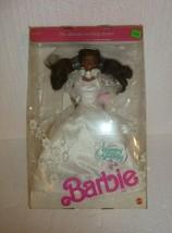 Vintage Mattel Barbie Wedding Fantasy Doll African American 1989 in Box - $19.34