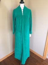 New Vintage Night Gown Sz 12 Green SHEVELVA by Vanity Fair long sleeve 1... - $23.36