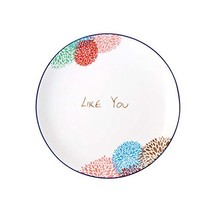 East Majik Set of 4, Creative Western Dishes for Home Kitchen Cute Ceramic Plate - $22.80
