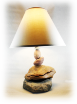 UNUSUAL ROCK Rustic Table Lamp (Remains of Jabba the Hut?) - $224.95