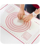 Pizza Silicone Pastry Baking Mat Dough Sheet Pie Measuring Crust Rolling... - $16.36+