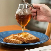 Elegant Honey Dispenser Jar Container Juice Syrup Storage Kettle Kitchen... - $15.99