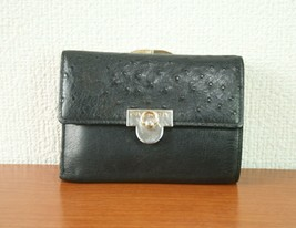 GIVENCHY Coin Case Black Leather Vintage Kissing Lock  100% Authentic Item - $88.20