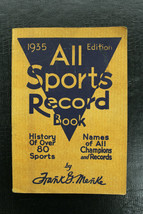 1935 All Sports Record Book 448 pages by Frank Menke - $39.59
