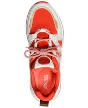 Michael Kors MK Women's Olympia Trainer Scuba Dad Sneaker Shoes Sea Coral image 4