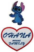 Lilo and Stitch Disney Movie Alien Ohana Means Family Embroidered Iron O... - $10.87