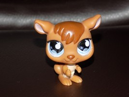 2007 LITTLEST PET SHOP BROWN KANGAROO BLUE EYES EUC HTF - $19.50