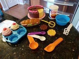 VTG FISHER PRICE Play Food Cupcake Cake Wisks Spoons Baking Fun 2151 215... - $132.77