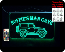 Jeep Sign, Garage Sign,  personalized Man Cave Sign - $96.03+