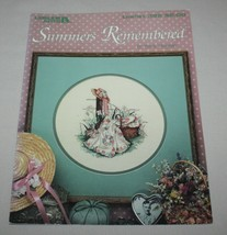 Summers Remembered Leisure Arts 392 Cross Stitch Pattern Leaflet Paula V... - $8.42
