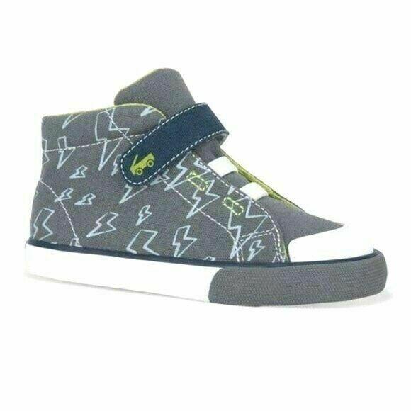See Kai Run Basics Boys Toddler Belmont II Hook & Loop Hi-Top Sneakers 10 NWT