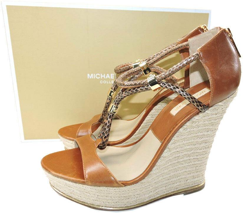 Michael Kors Zeppa Sherie Espadrillas Bagaglio Scarpa Sandalo 39 image 2