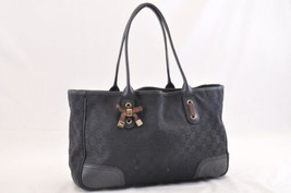 GUCCI Web Sherry Line Shoulder Bag Black Canvas Auth ar935 - $360.00