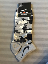 Nike GREY Camouflage socks,camo, military, army print for men, kids low cut - $1.97