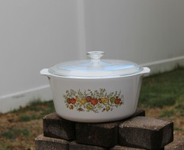 CORNING WARE 5 Qt Range Topper N-5-B Casserole Dutch Oven with Lid Spice... - $64.99