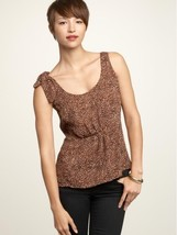 Gap Print TIE-SHOULDER Blouse Women's M Medium Sleeveless Summer Top - $19.95