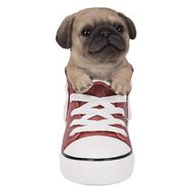 Pacific Giftware PT All Star Animal Pug Dog in The Shoes Decorative Resin Figuri - $34.64