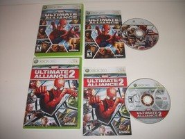 Marvel: Ultimate Alliance + Ultimate Alliance 2 XBOX 360 Great Shape/Shi... - $39.95
