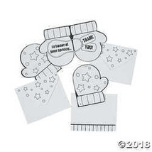 Color Your Own Thank You Card Ornaments  - $3.73