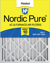 Nordic Pure 16x24x4 (3 5/8) Pleated MERV 10 Air Filter 1 Pack - $23.93