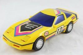 Vintage Blue Box Corvette Supervette Racing Team Battery-op Bump Car Mec... - $9.99