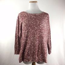 LOFT Ann Taylor Button Back Red Maroon Longsleeve Cardigan Sweater Size Large - $23.30