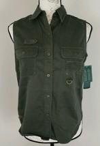 Lauren Ralph Lauren Size Small Military Green Bayleaf Lake Powell Vest N... - $30.39