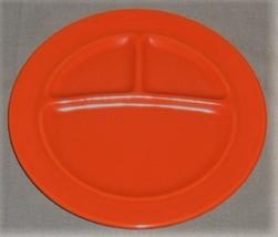 1930s Metlox CALIFORNIA POTTERY Tri Divided ORANGE COLOR GRILL PLATE - $24.74