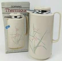 BRAND NEW 1987 Corning Thermique 1-quart Coffee Thermal Carafe Spring Pond - $69.29