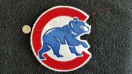 Vintage LARGE Chicago Cubs Felt sports baseball sew on jacket  Patch ( r... - $16.94