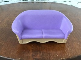 Fisher Price Loving Family Couch Love Seat Purple - $9.89