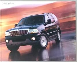 2004 Lincoln AVIATOR sales brochure catalog 2nd Edition US 04  - $8.00