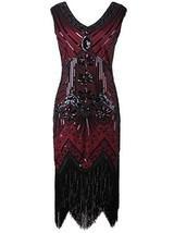 Vijiv Women 1920s Gastby Sequin Art Nouveau Embellished Fringed Flapper ... - $49.56