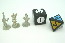 Disney Scene it? 1st. Edition Replacement Parts (3) Tokens Movers & Dice Die - $8.56
