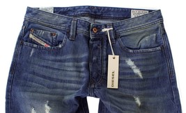 DIESEL MEN'S DESIGNER DENIM REGULAR SLIM STRAIGHT JEANS LARKEE 00751 Size 30x30 image 2