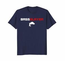 New Tee - Bass Slayer - Funny Fishing Shirt Men - $19.95+