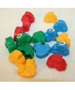 Bumper Cars Board Game 16 Replacement Cars Red Blue Yellow Green - $19.95
