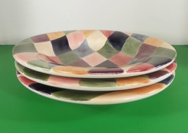 Tabletops Unlimited CARNIVAL Salad or Pasta Plate (s) LOT OF 3 Diamonds - $29.65
