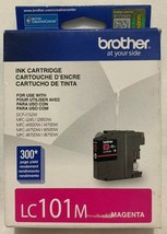 Genuine OEM Brother LC101M Magenta Innobella Ink Sealed In Retail Box Free Ship - $10.68