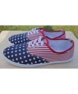 Rue 21 etc! Women American USA Flag Stars & Stripes Red White Blue Sneak... - $24.74