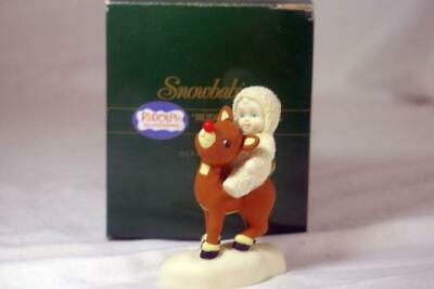 Primary image for Dept 56 1992 Snowbabies Rudolph Lights The Way Figurine 3 1/4""