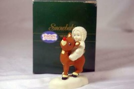 "Dept 56 1992 Snowbabies Rudolph Lights The Way Figurine 3 1/4"" - $10.39"